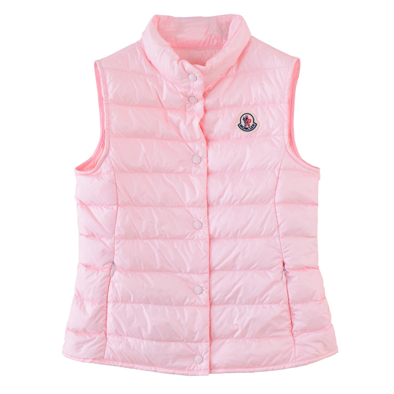 Moncler兒童 粉色羽絨背心